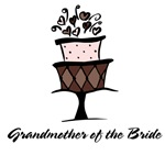 Grandmother Of Bride Pink Cake T-shirts Gifts