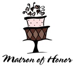 Matron of Honor Pink Cake T-shirts Gifts