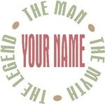 Custom Personalized Man Myth Legend T-shirts Gifts