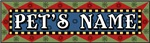 Folk Art Name Plate Dog and Cat Bowls Gifts