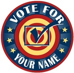 Personalized Vote For Your Name T-shirts Gifts