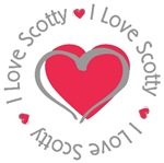 I Love Heart Scotty Personalized T-shirts Gifts