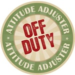 Off Duty Attitude Adjuster Funny Job Title T-shirt