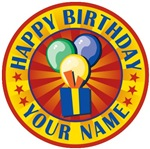 Happy Birthday Personalized Your Name T-shirts Gif