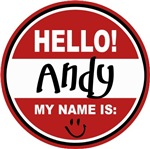 Hello My Name Is Andy T-shirts Gifts