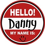 Hello My Name is Danny Tag T-shirts Gifts