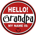 Hello My name is Grandpa Tag T-shirts Gifts