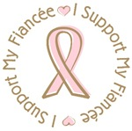 Breast Cancer Support Fiancee T-shirts Gifts