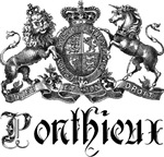 Ponthieux Last Name Family Crest Tees Gifts