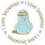 I Love Heart Snowmen Tees Gifts