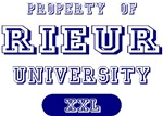 Property of Rieur Last Name University Tees Gifts