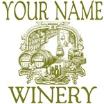 Your Name Winery Personalized Custom Tees Gifts