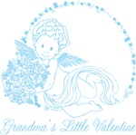 Grandma's Little Valentine Boy Tees Gifts