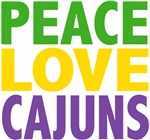 Peace Love Cajuns Mardi Gras Tees Gifts
