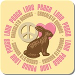 Peace Love Chocolate Bunnies Tees Gifts