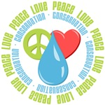 Peace Love Conservation Tees Gifts