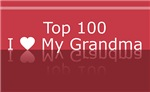 Top 100 I Heart Grandma Tshirts and Gifts