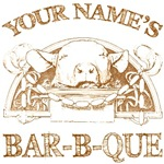 Personalized Bar-b-que with Your Last Name Tees Gi