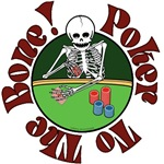 Skeleton Poker Player