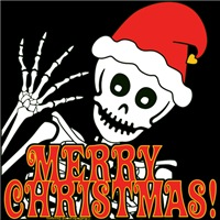 Merry Christmas Skeleton