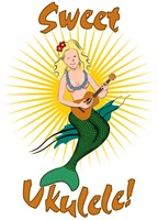Ukulele Playing Mermaid