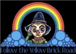With all the colors of the rainbow, this Wonderful Wizard of Oz inspired design captures Scarecrow Follow the Yellow Brick Road.  The perfect gift for any Oz fan.