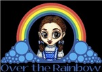 With all the colors of the rainbow, this Wonderful Wizard of Oz inspired design captures Dorothy Over the Rainbow.  The perfect gift for any Oz fan.