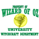 Property of Wizard of Oz University, Witchcraft Department.  With Dean Wicked Witch missing the hunt for a new dean is on.  Perhaps you are the new Dean of Witchcraft at the Wizard of Oz University?