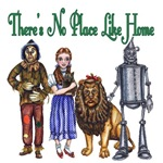 There's No Place Like Home is the perfect quote from the Wonderful Wizard of Oz with Dorothy Gale, the Scarecrow, the Cowardly Lion and the Tin Woodsman.  This L Frank Baum quote makes a great Oz gift for any Wizard of Oz Fan.