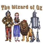 The Wizard of Oz Gang with Dorothy Gale, Toto, the Cowardly Lion, Scarecrow, and the Tin Woodsman will bring a smile to any Wizard of Oz fan.  Based on the original Wonderful Wizard of Oz by L. Frank Baum.