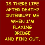 a funny duplicate bridge joke on gifts and t-shirt