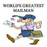world's greatest mailman gifts t-shirts