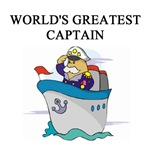 world's greatest captain gifts t-shirts