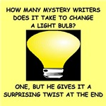 funny mystery author writer humor gifts t-shirts
