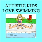 autistic girls swimming fits t-shirts