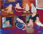 Impressionist Swallows