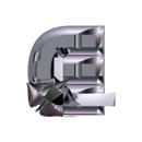 Heavy Metal initial letter E monogram