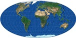 World Oval Map Design