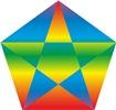 pentagramm framed rainbow