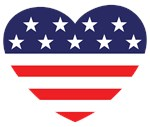 US Flag Heart