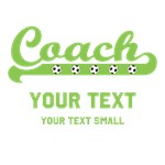 Personalized Green Soccer Coach Shirts