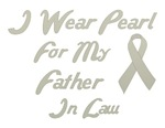 Father in Law Pearl Ribbon Awareness Shirts