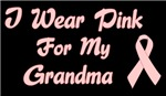Breast Cancer Support Grandma T-shirt