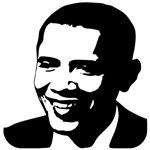 Silhouette Art Obama T-shirts