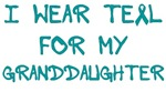 I Wear Teal For My Granddaughter Shirts