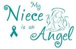 Ovarian Cancer Angel Niece T-shirts