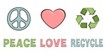 Peace Love Recycle T-shirts