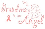 Breast Cancer Angel Grandma T-shirts