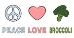 Peace Love Broccoli T-shirts