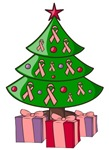 Pink Ribbon Christmas Tree Gifts